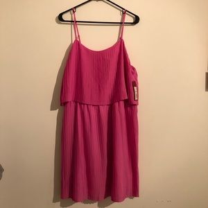 NWT Meron's Pink Pleated Dress